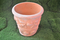 Cheap Handmade Glazed Terracotta Pottery, Normal Design Flower Pot Wholesale