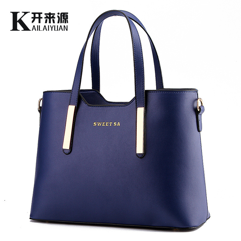 1609 ladies handbag <strong>shoulder</strong> tote women pu leather bag
