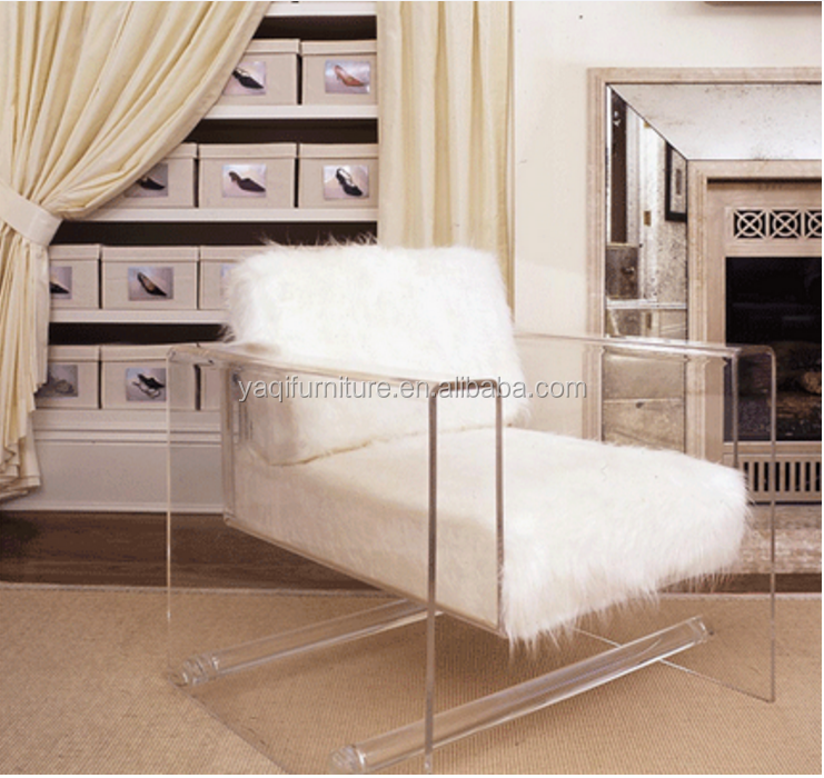 New clear products acrylic chair / sofa with white cushion