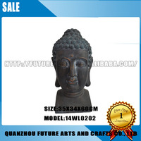 Antiques Buddha Head Statue of Chinese Sculpture Garden Home Decoration