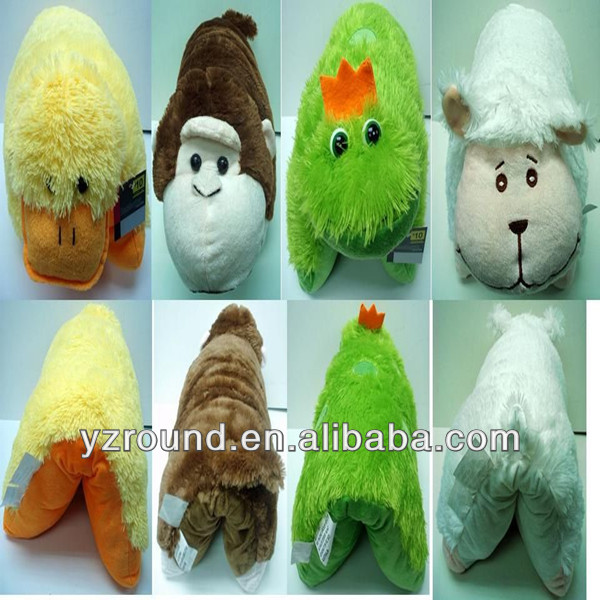 Alibaba soft animal plush cushion Duck Monkey Prince Frog Sheep shaped animal pillow stuffed plush pillow pet