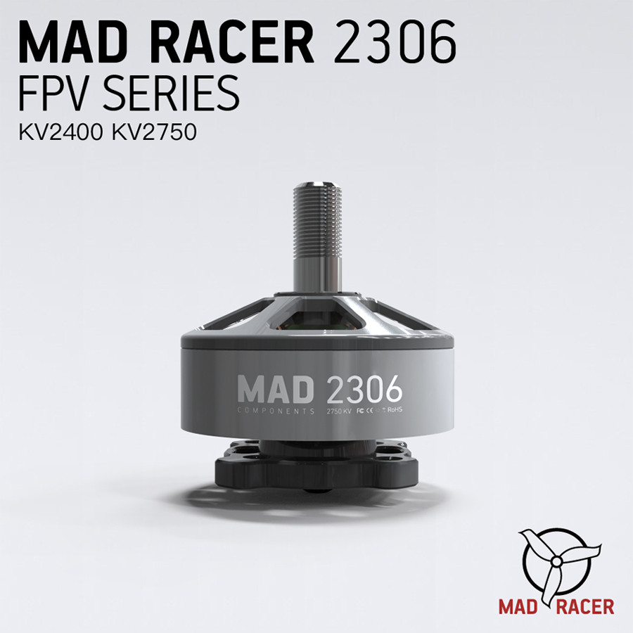 MAD Racer 2306 FPV Series 2400KV 2750KV N52SH Magnets best racing drone motors motors for FPV Racing Drone Quadcopter
