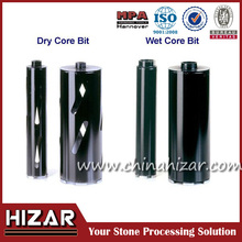 Different colors long life-span diamond core drill bit