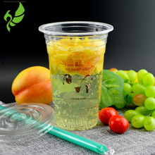 Custom Logo Disposable Smoothie Cup Plastic Water Cup