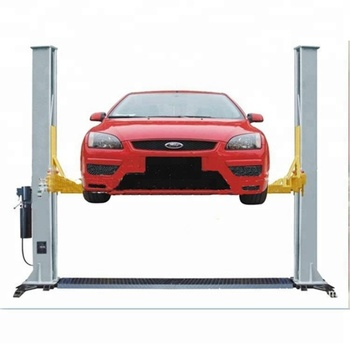Double hydraulic cylinder and high strength chain Floor Plate Two Post Lift 3.5Ton car lifts elevator