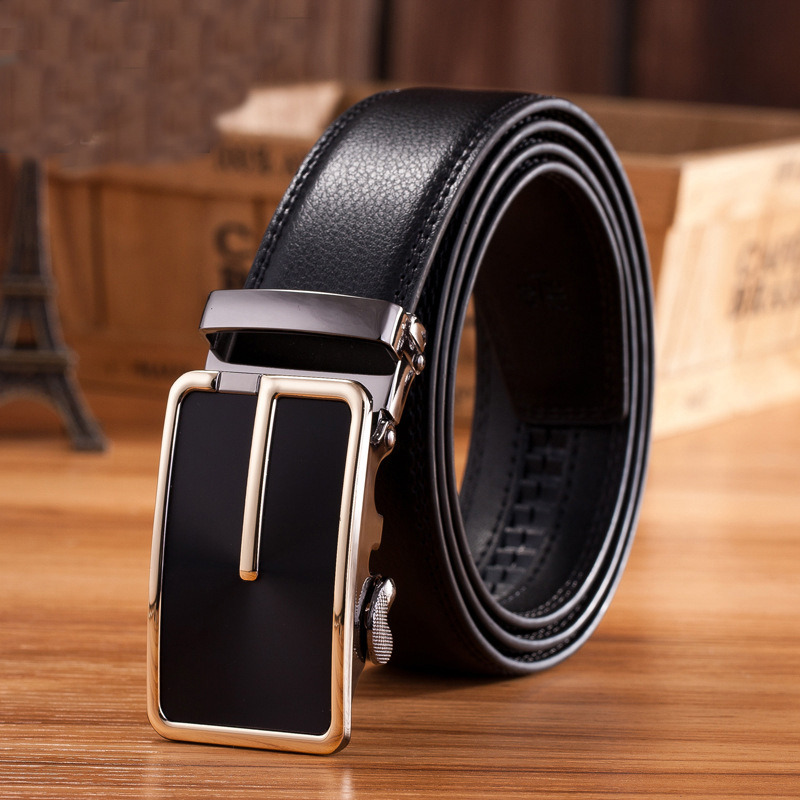 business smart automatic buckle leather men belt without logo