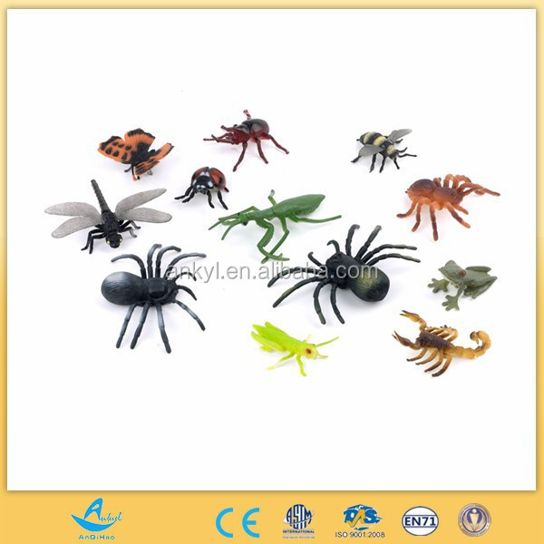 Hottest Plastic mini insect animal set toys insect toys for kids