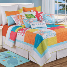 Cheap chinese patchwork quilt wholesale printed bedding set, 3pc quilt set