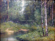 Chinese Style Forest Oil Painting Beautiful Landscape Painting