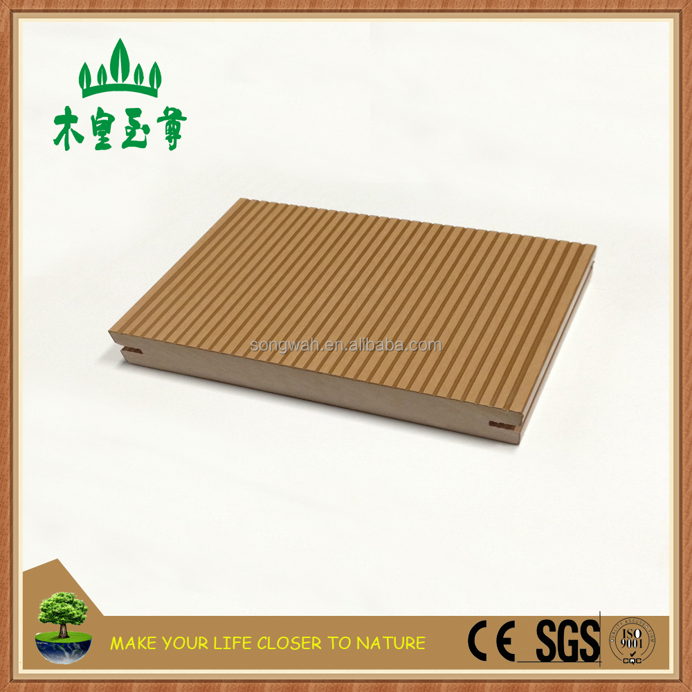 Fast installation water resistant wpc solid outdoor laminate deck for boardwalk
