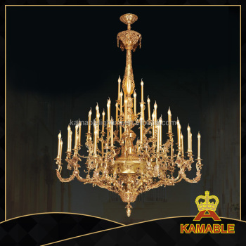 Classical gold brass chandelier light good for hotel,restaurant,church
