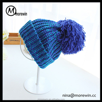 Morewin brand custom knitted winter hats with pompoms crochet hats for women