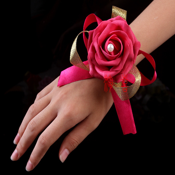 colorfast foam wrist corsage rose