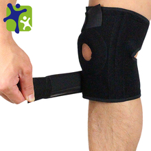 Four spring Knee support,Black Adjustable Leg Brace/Sleeve/Support