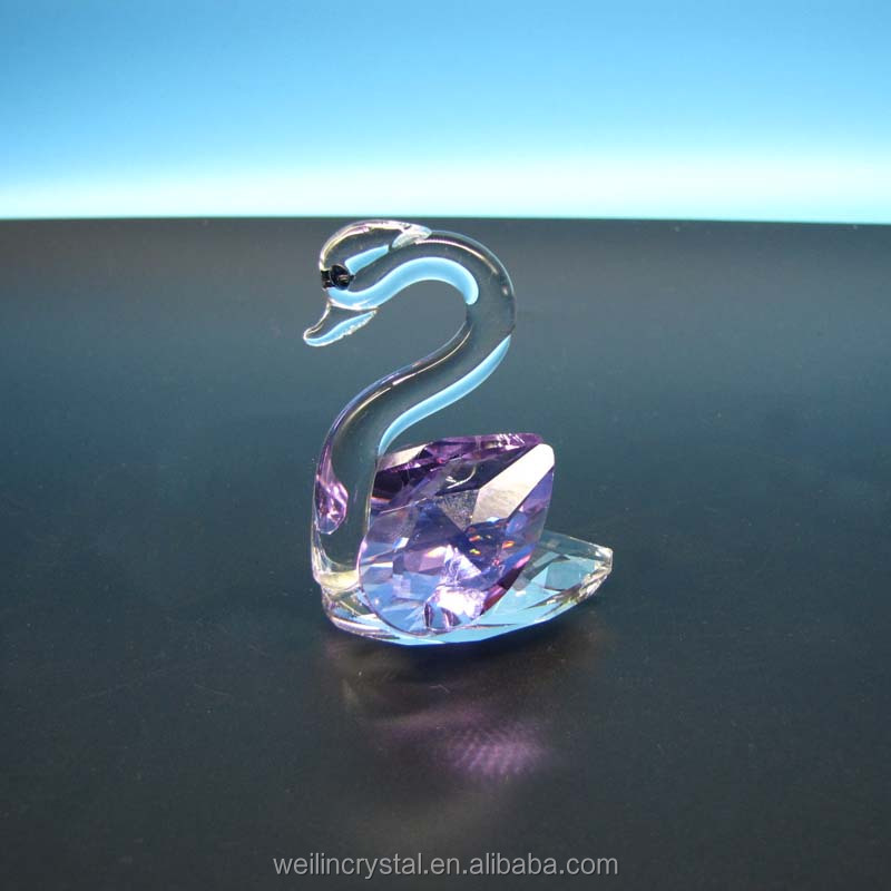 wholesalers of cheap price funny crystal swan of promotional gifts