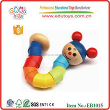 Promotion Gift Colorful Bendy Wooden Kids Toy, New Design Colorful Kids Toy