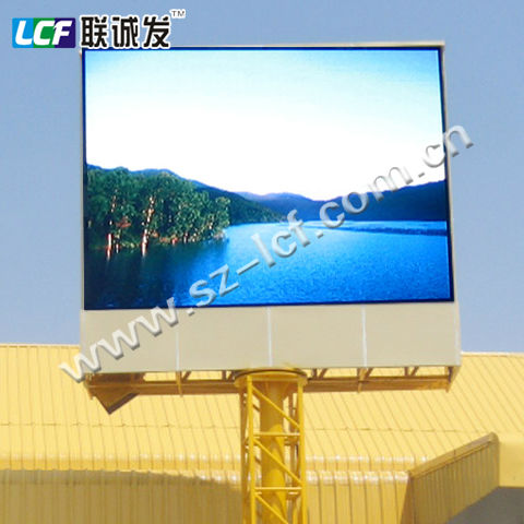 P16 IP65 Winxp / vista / win7 Outdoor Curve Led Display Full Color Advertising Video Wall