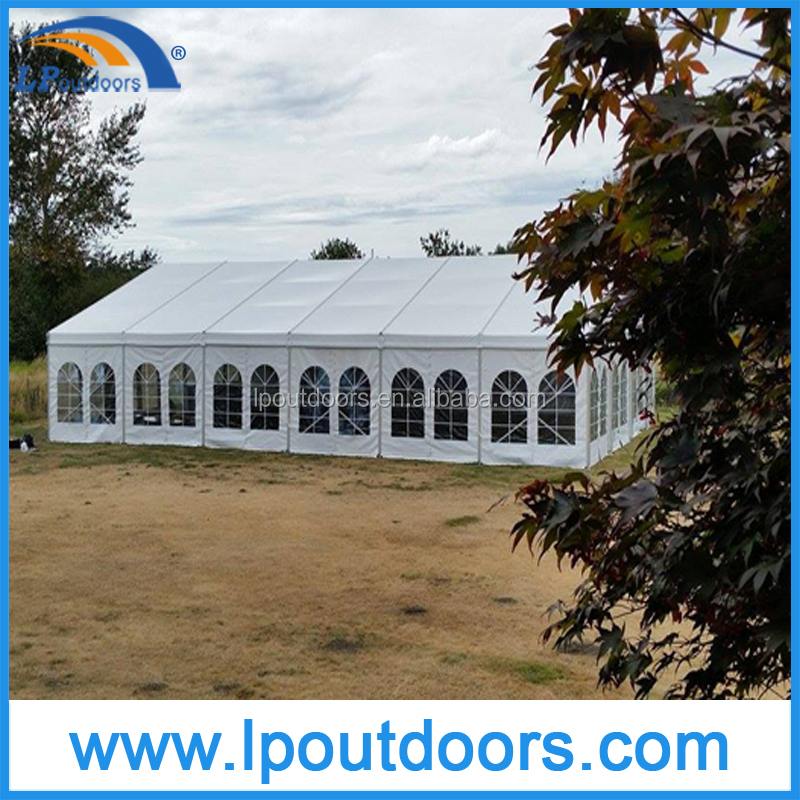 Big romantic wedding tent for 500 people marquee tent with clear windows