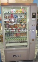 Automatic retail food vending machine for street shop