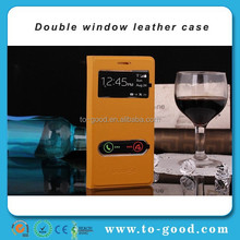 Dual-windown Newly Flip Design China New Arrive Phone Case Wholesale For Samsung Galaxy S3 I9300 (Yellow)