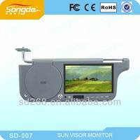 "7"" TFT LCD CAR SUN-VISOR MONITOR.Compatible with DVD/VCD"