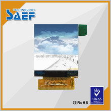 SAEF TECH hot sale,1.44 inch square TFT LCM and MPU-8 interface display screen in standard LCD light without touch panel