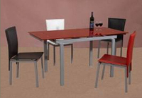 glass top extention dining table and chair