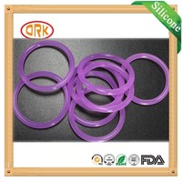 Colored transperant clear soft Silicone dental o ring