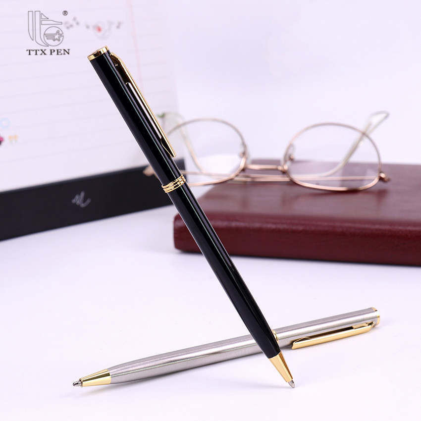 Office Stationery Cheap promotional products Slim Cross Metal Twist Ballpoint Pen