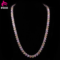 beautiful copper alloy necklace jewelry with white gold plating