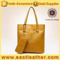 E1572 Factory direct selling simple style PU leather handbag with wallet