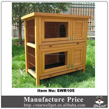 Rainproof wooden rabbit play house with tray