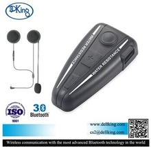 D2 Waterproof Bluetooth Motorcycle Helmet Headset Bluetooth 3.0 Automatic Answering FM 500M Intercom