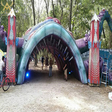 custom giant barbed octopus inflatable monster arch outdoor event decoration