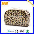 Chinese professional cosmetic bag factory produce leopard cosmetic bag(NV-CS028)