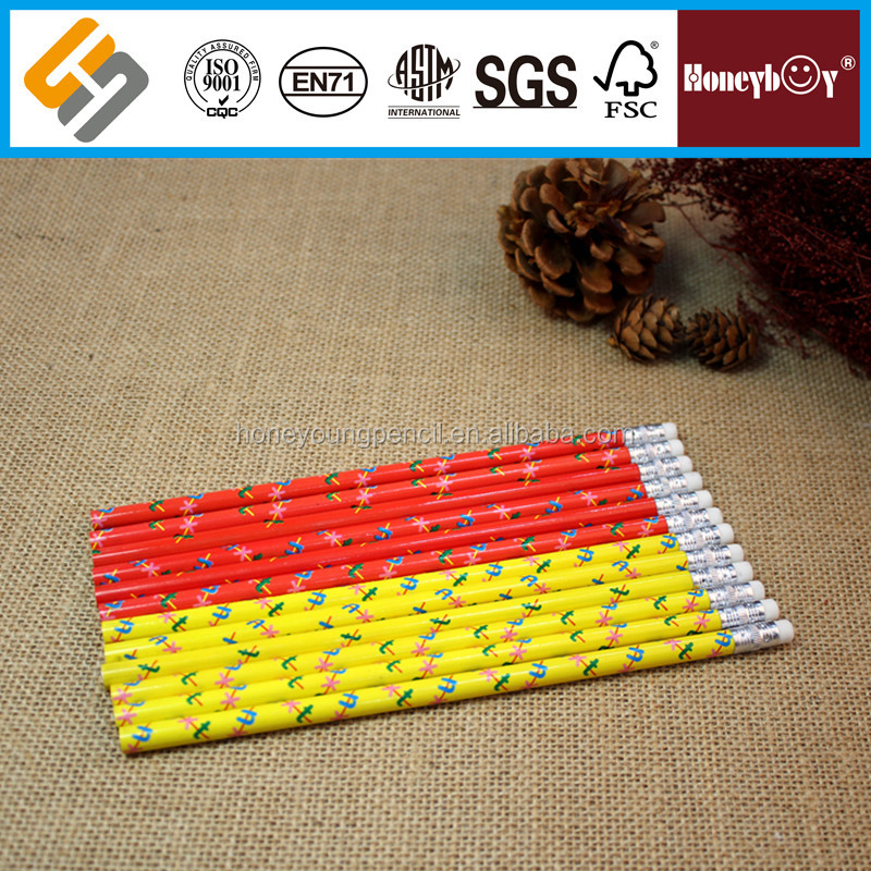 Excellent Quality animal wooden graphite heat transfer print pencil