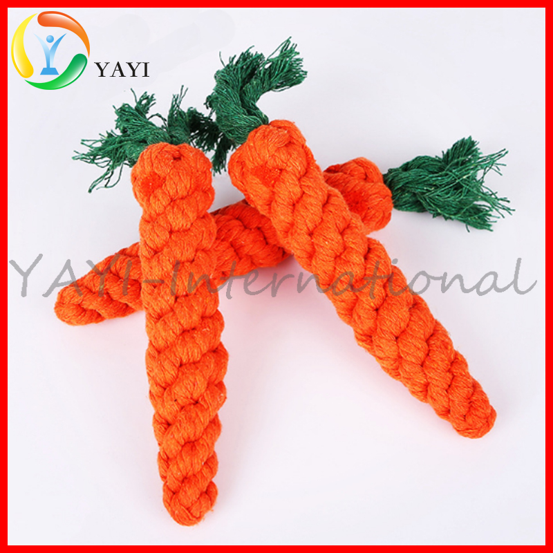 Custom Tough Carrot Dog Toys For Chewing