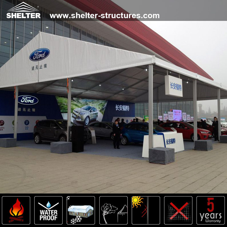 Durable Car Wash Tent , Car Parking Tents Car Storage Tent With Clear Span Structure