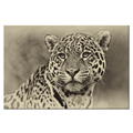 Animal Picture Canvas Print HD Leopard Photo Canvas Wall Art Ready to Hang Room Decoration