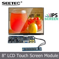 "8"" lcd monitors with ips panel dot resolution 1024X768 wider viewing angle"