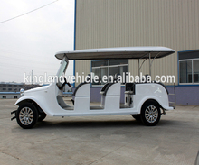 Popular 12-seat Classic Electric Sightseeing 72v 7.5kw powerful vintage cars made in china