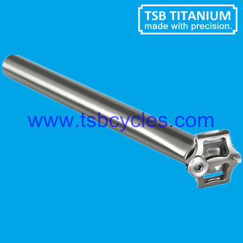 Light titanium bicycle seat post TSB-SP03