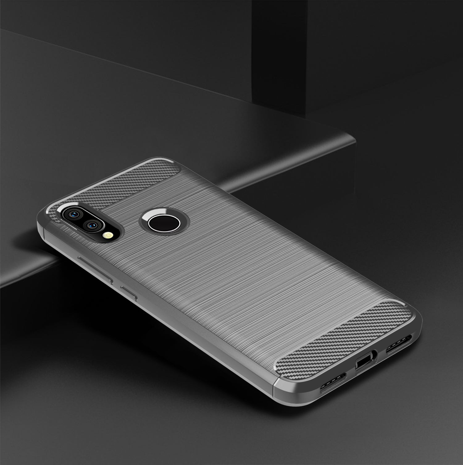 Carbon Fiber Shockproof Soft TPU Back Cover mobile Phone Case For xiaomi redmi Y3