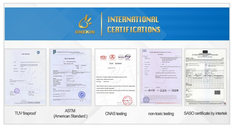 TUV certificated fire rated wall partition panel building