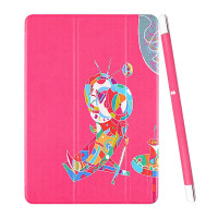 PU Leather Smart Cover Case for iPad Air 2 (2014 Released) With Magnetic Auto Wake & Sleep Function