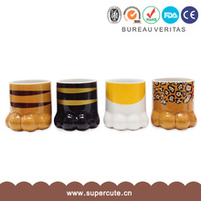 Terrific value heat resistant cat paw design promotial coffee mugs