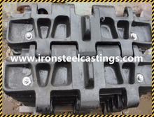 OEM high quality cast steel cast iron water glass railway castings