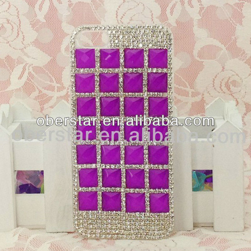 Bling 3D Crystal Transparent hand make Case the diamond For iphone5 5G Diy case