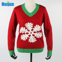 New design snowflake christmas dress latest design winter sweater