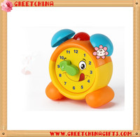 Cartoon decorative table digital mini children alarm clock with plastic clock hands